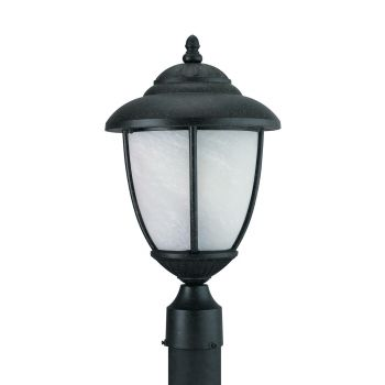 Sea Gull Lighting Yorktown 1-Light Outdoor Post Lantern in Forged Iron