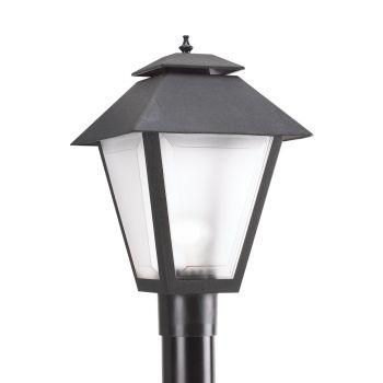 Sea Gull Lighting Outdoor Post Lantern in Black