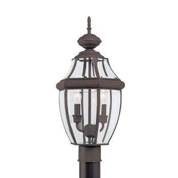 Sea Gull Lighting Lancaster 2-Light Outdoor Post Lantern in Antique Bronze