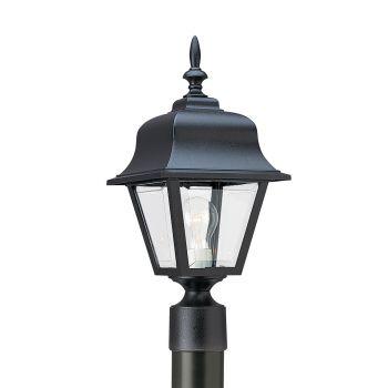 Sea Gull Lighting Painted Polycarbonate Lanterns 1-Light Outdoor Post Lantern in Black