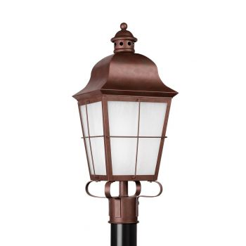 "Sea Gull Chatham 22.75"" Outdoor Post Lantern in Weathered Copper"