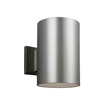 Sea Gull Lighting Outdoor Bullets Large 1-light Outdoor Wall Lantern in Painted Brushed Nickel