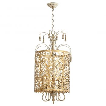 "Quorum Leduc 19"" 5-Light Pendant in Florentine Gold"