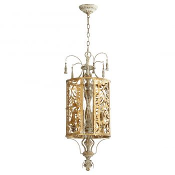 "Quorum Leduc 13"" 4-Light Pendant in Florentine Gold"