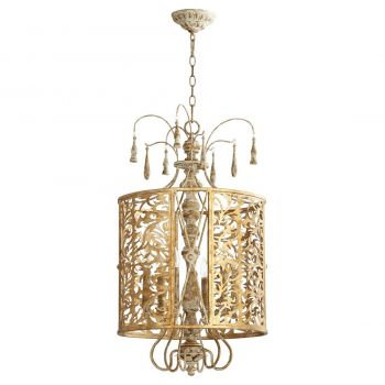 "Quorum Leduc 18"" 6-Light Pendant in Florentine Gold"