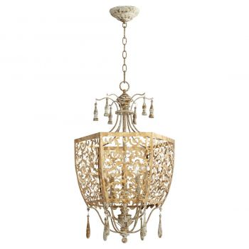 "Quorum Leduc 18"" 5-Light Pendant in Florentine Gold"