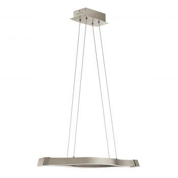 """Elan Nya 39.5"""" LED Linear Chandelier in Satin Nickel"""