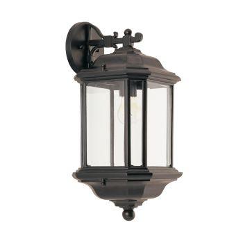 Sea Gull Lighting Kent 1-Light Outdoor Wall Lantern in Black
