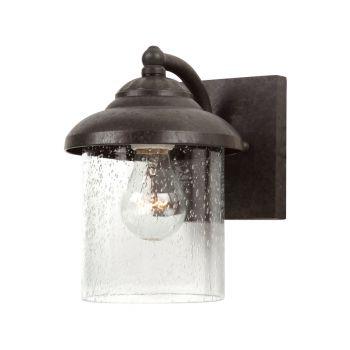 Sea Gull Lighting Lambert Hill 1-Light Outdoor Wall Lantern in Oxford Bronze