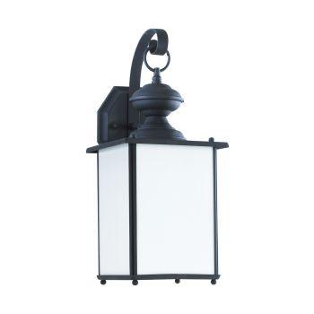 Sea Gull Lighting Jamestowne 1-Light Outdoor Wall Lantern in Black