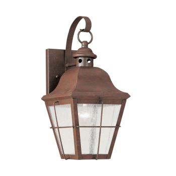 Sea Gull Lighting Chatham 1-Light Outdoor Wall Lantern in Weathered Copper