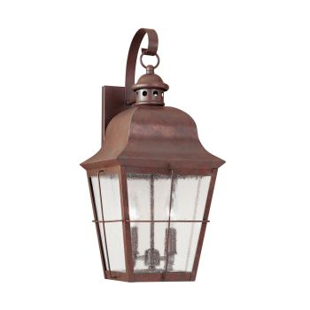 Sea Gull Lighting Chatham 2-Light Outdoor Wall Lantern in Weathered Copper