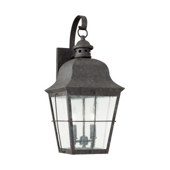 Sea Gull Lighting Chatham 2-Light Outdoor Wall Lantern in Oxidized Bronze