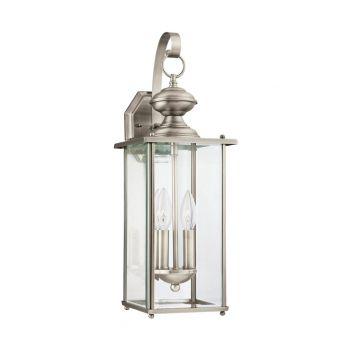 Sea Gull Jamestowne 2-Light Outdoor Lantern w/ Bulbs in Antique Nickel