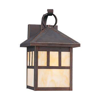 Sea Gull Lighting Prairie Statement 1-Light Outdoor Wall Lantern in Antique Bronze