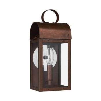 Sea Gull Lighting Conroe 1-Light Outdoor Wall Lantern in Weathered Copper