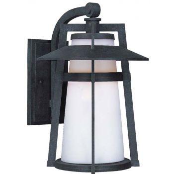 "Maxim Lighting Calistoga EE 15.5"" Outdoor Satin White Wall Mount in Adobe"