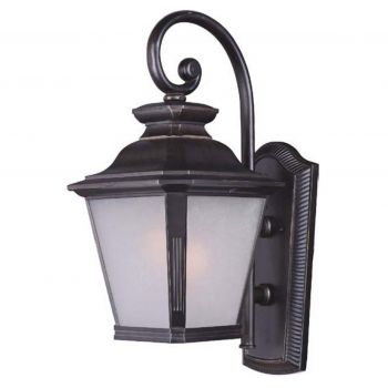 """Maxim Knoxville EE 23.75"""" Outdoor Frosted Seedy Wall Mount in Bronze"""