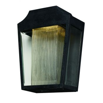 """Maxim Villa 14.25"""" LED Outdoor Clear Ribbed Wall Mount in Anthracite"""