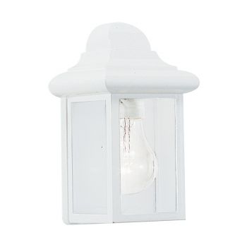 Sea Gull Lighting Mullberry Hill 1-Light Outdoor Wall Lantern in White