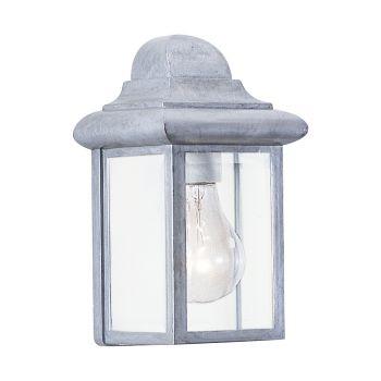 Sea Gull Lighting Mullberry Hill 1-Light Outdoor Wall Lantern in Pewter