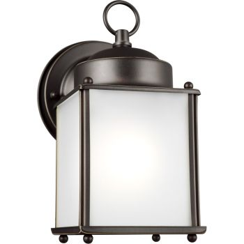 Sea Gull Lighting New Castle Outdoor Wall Lantern in Antique Bronze