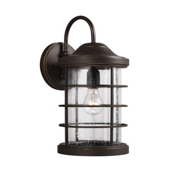 Sea Gull Lighting Sauganash 1-Light Outdoor Wall in Antique Bronze