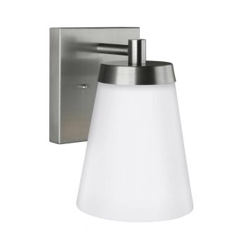 """Sea Gull Lighting Renville 7"""" Outdoor Wall Sconce in Satin Aluminum"""
