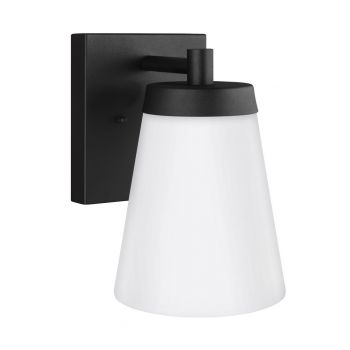 """Sea Gull Lighting Renville 7"""" Outdoor Wall Sconce in Black"""