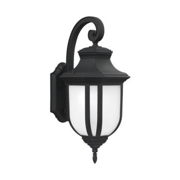 Sea Gull Lighting Childress Large 1-light Outdoor Wall Lantern in Black