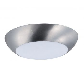 """Maxim Lighting Diverse 6.5"""" LED White Dimmable Flush Mount in Satin Nickel"""