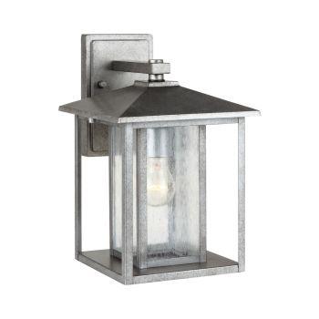 Sea Gull Lighting Hunnington 1-Light Outdoor Wall Lantern in Weathered Pewter