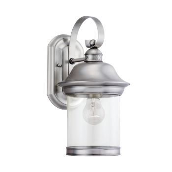 Sea Gull Lighting Hermitage 1-Light Outdoor Wall Lantern in Antique Brushed Nickel