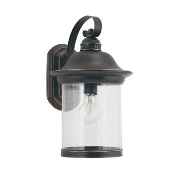 Sea Gull Lighting Hermitage 1-Light Outdoor Wall Lantern in Antique Bronze