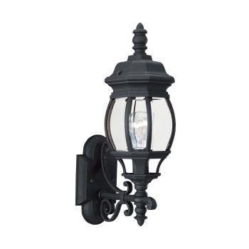 Sea Gull Lighting Wynfield 1-Light Outdoor Wall Lantern in Black