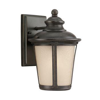 Sea Gull Lighting Cape May 1-Light Outdoor Wall Lantern in Burled Iron