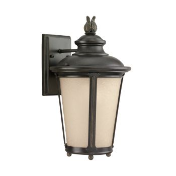 Sea Gull Lighting Cape May MEDIUM LED OUTDOOR WALL LANTERN in Burled Iron