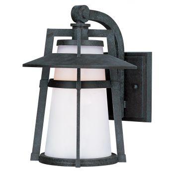 "Maxim Lighting Calistoga 15.5"" LED Outdoor Satin White Wall Mount in Adobe"