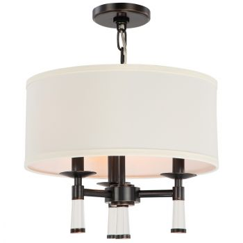 Crystorama Baxter 3-Light Oil Rubbed Chandelier in Bronze