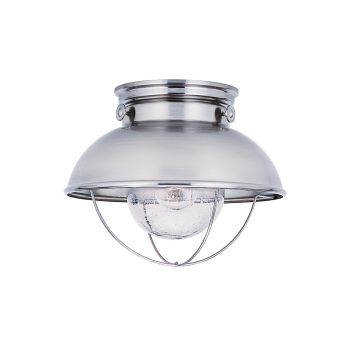 Sea Gull Lighting Sebring Outdoor Ceiling Light in Brushed Stainless