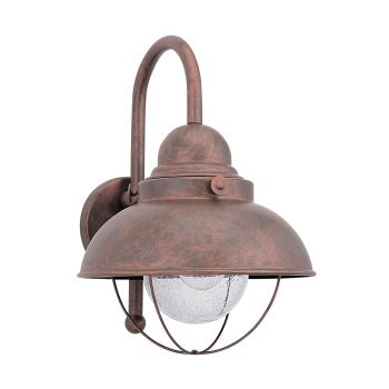 Sea Gull Lighting Sebring 1-Light Outdoor Wall Lantern in Weathered Copper