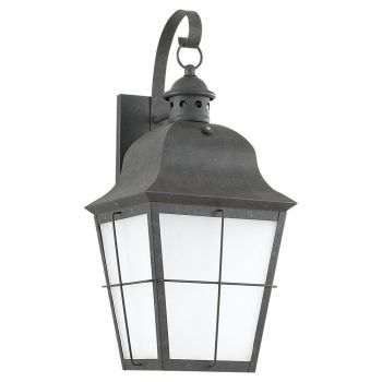 "Sea Gull Lighting Chatham 9.25"" Outdoor Wall Lantern in Oxidized Bronze"