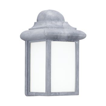 """Sea Gull Lighting Mullberry Hill 5.75"""" Outdoor Wall Lantern in Pewter"""