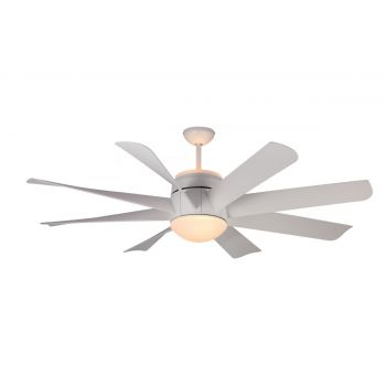 "Monte Carlo 56"" Turbine Ceiling Fan in Rubberized White"
