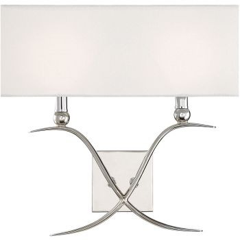 "Savoy House Payton 15.5"" 2-Light Wall Sconce in Polished Nickel"