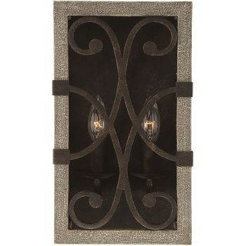 "Savoy House Amador 14"" 2-Light Wall Sconce in Noblewood/Iron"