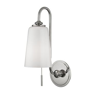 Hudson Valley Glover 1-Light Wall Sconce in Polished Nickel