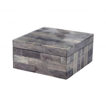 ELK Gray And White Bone Boxes - Large in Multicolor