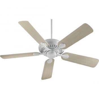 """Quorum Pinnacle 52"""" 5-Blade Indoor Ceiling Fan in White"""