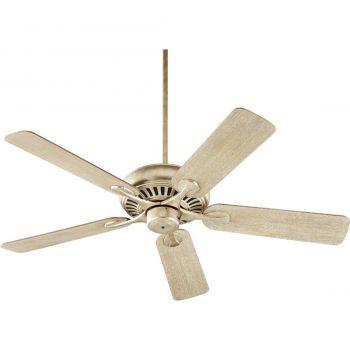 """Quorum Pinnacle 52"""" 5-Blade Indoor Ceiling Fan in Aged Silver Leaf"""